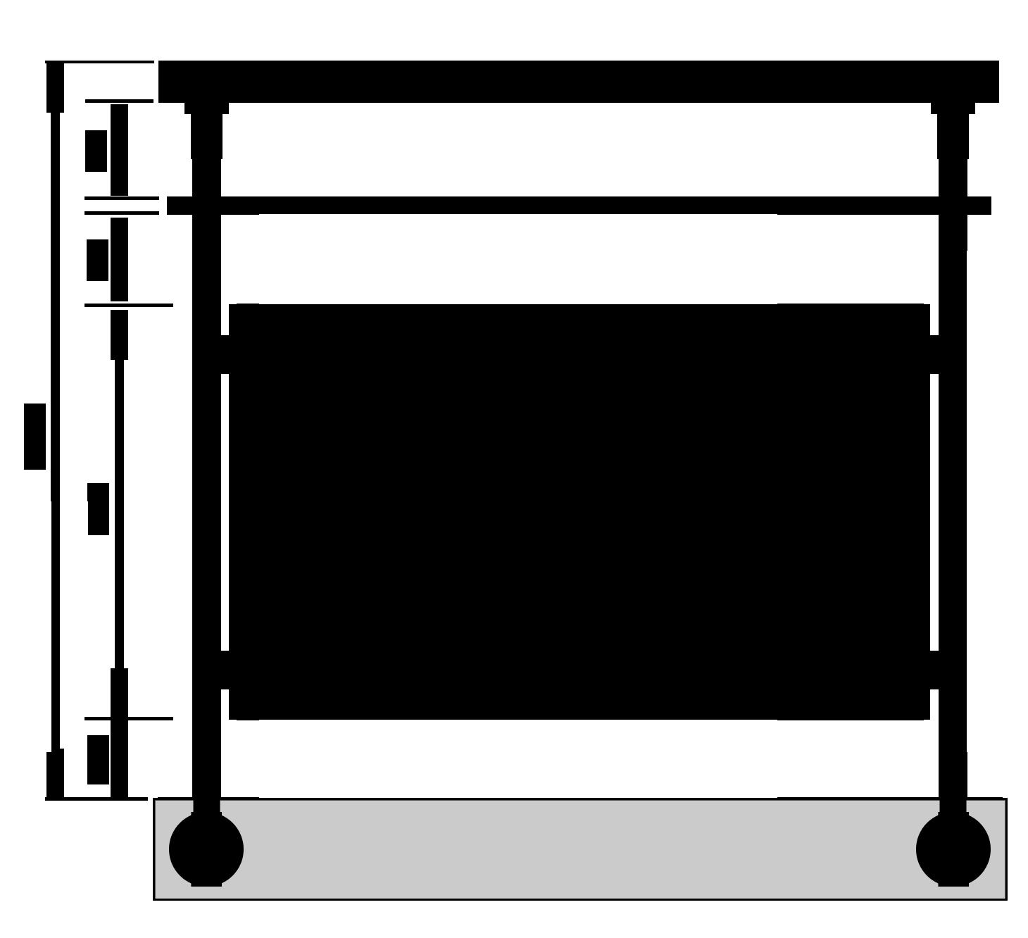 garde corps alu finition inox avec remplissage 4 lisses. Black Bedroom Furniture Sets. Home Design Ideas