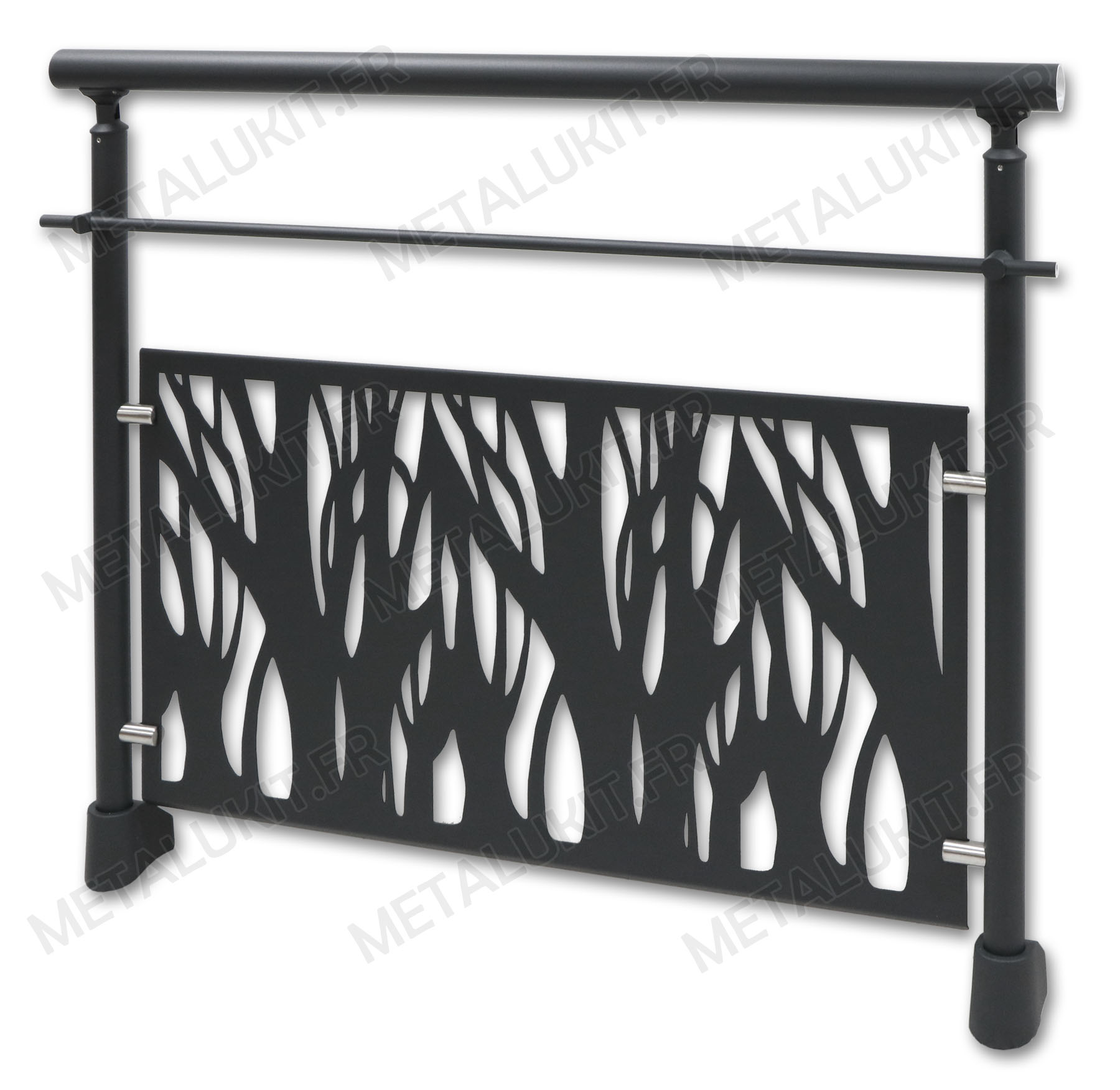 garde corps gris anthracite avec t le perfor e en alu et en kit sol. Black Bedroom Furniture Sets. Home Design Ideas
